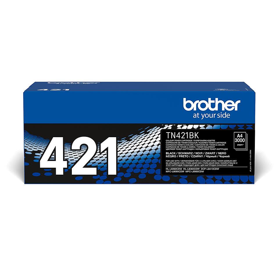 Оригинална тонер касета Brother TN-421BK – Черно  2