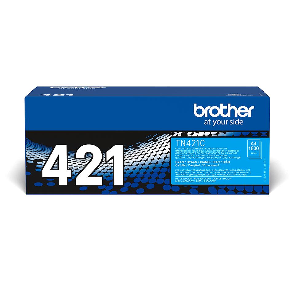 Оригинална тонер касета Brother TN-421C – Синьо