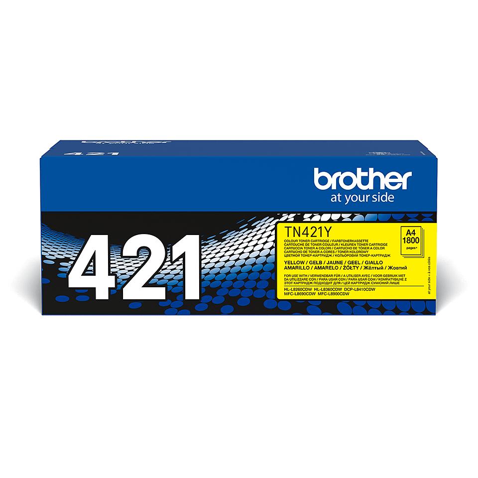 Оригинална тонер касета Brother TN421Y – жълт цвят