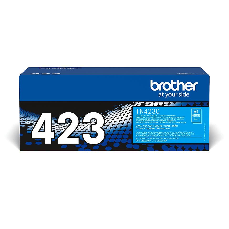 Оригинална тонер касета Brother TN423C – син цвят