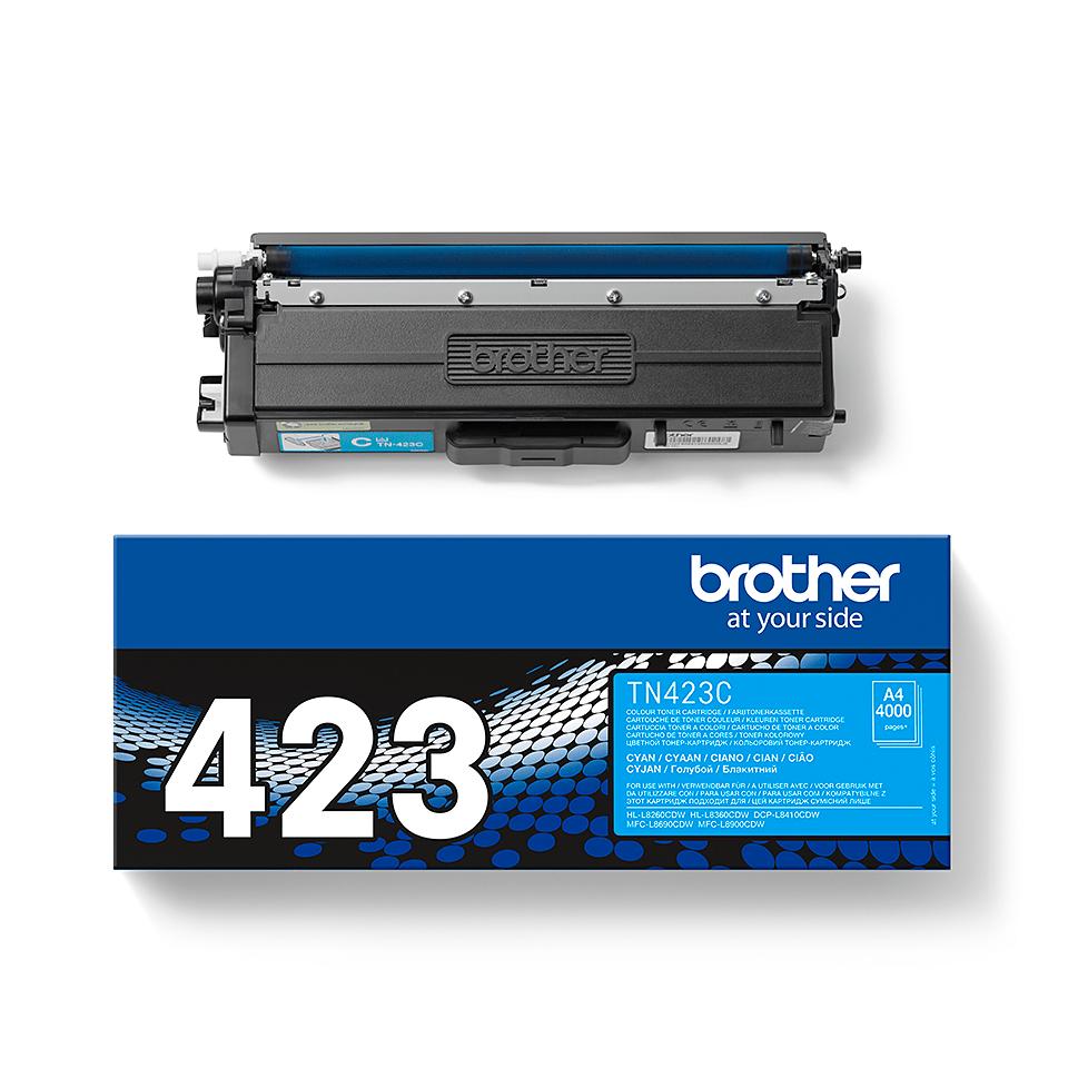 Оригинална тонер касета Brother TN423C – син цвят 2