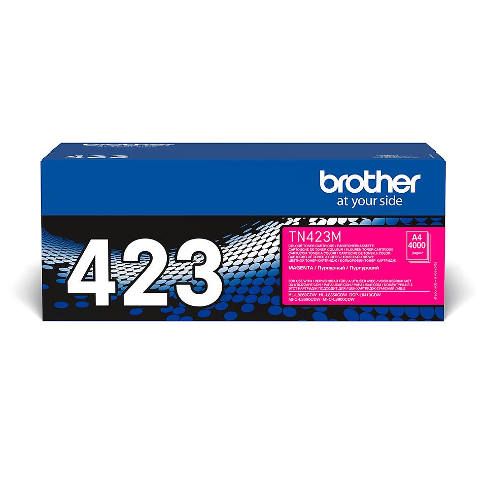 Оригинална тонер касета Brother TN423M – червен цвят