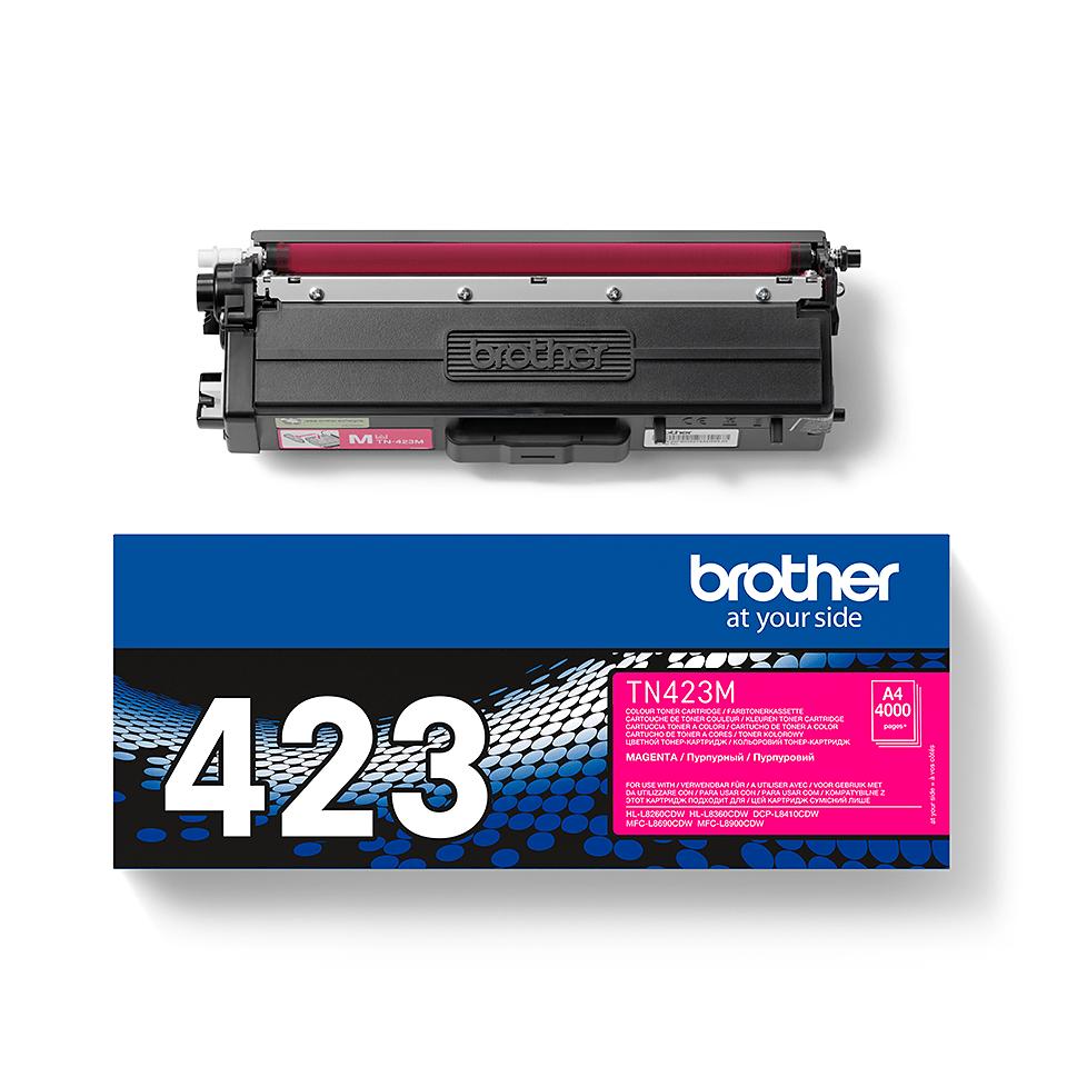 Оригинална тонер касета Brother TN423M – червен цвят 2