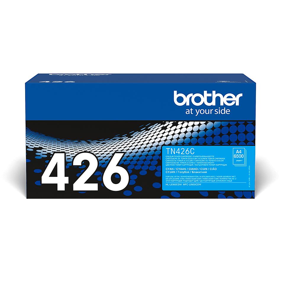 Оригинална тонер касета Brother TN426C – син цвят