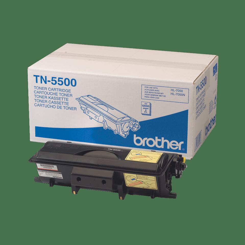Оригинална тонер касета с голям капацитет Brother TN5500 – черен цвят