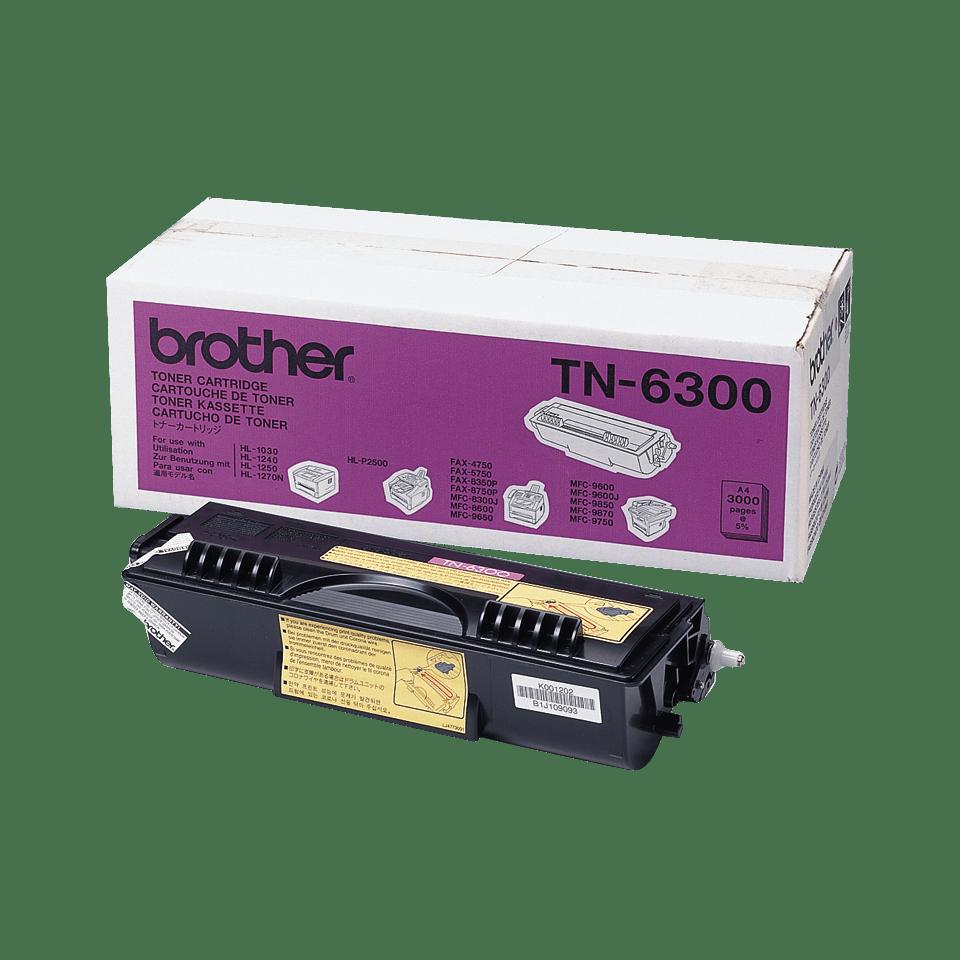 Оригинална тонер касета с голям капацитет Brother TN6300 – черен цвят
