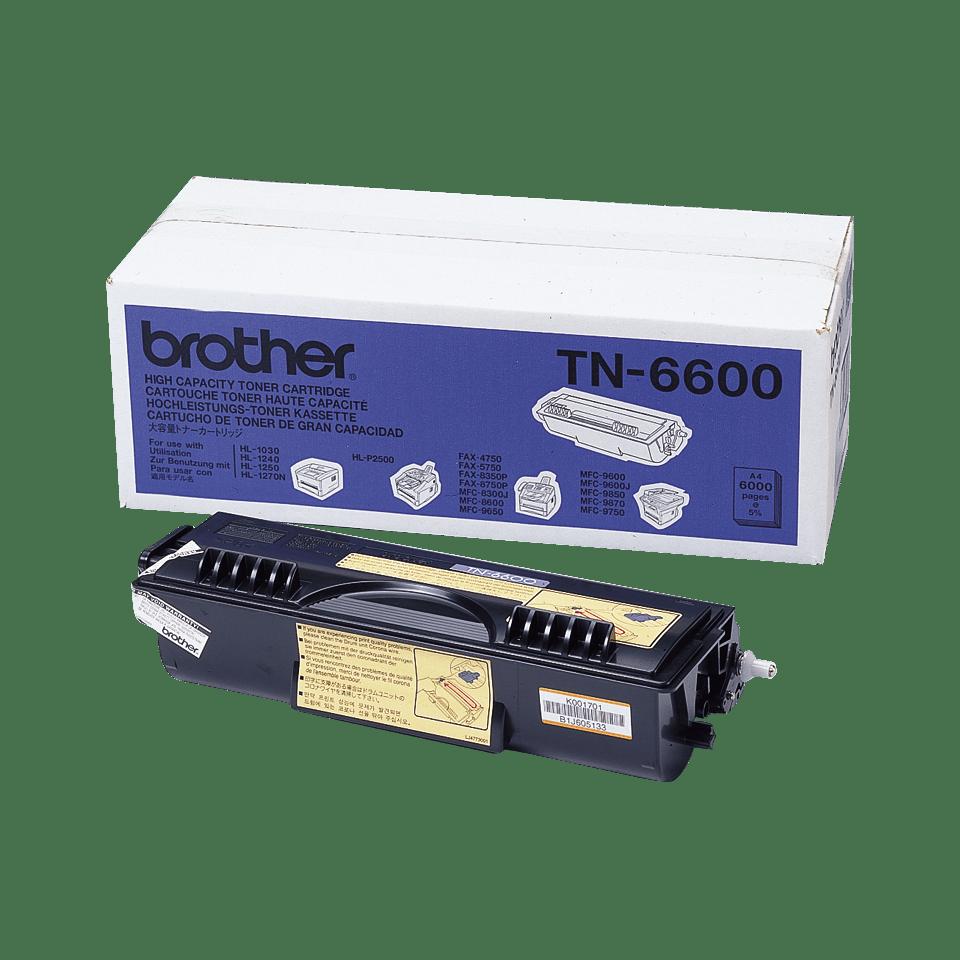 Оригинална тонер касета с голям капацитет Brother TN6600 – черен цвят