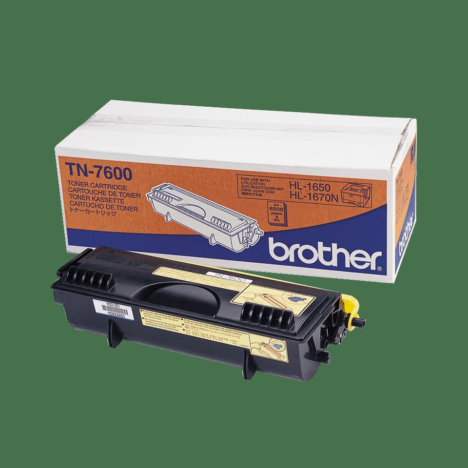 Оригинална тонер касета с голям капацитет Brother TN7600 – черен цвят