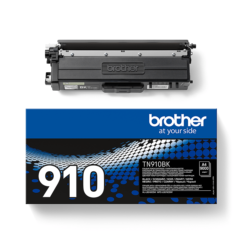 Оригинална тонер касета Brother TN910BK – черен цвят 2