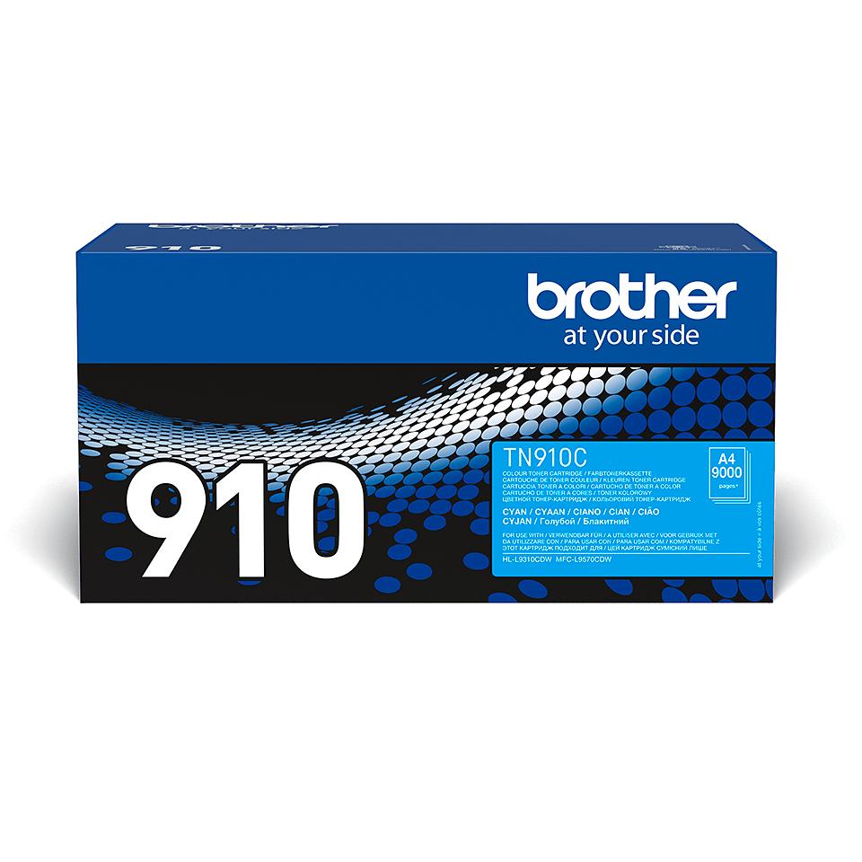 Оригинална тонер касета Brother TN910C – син цвят