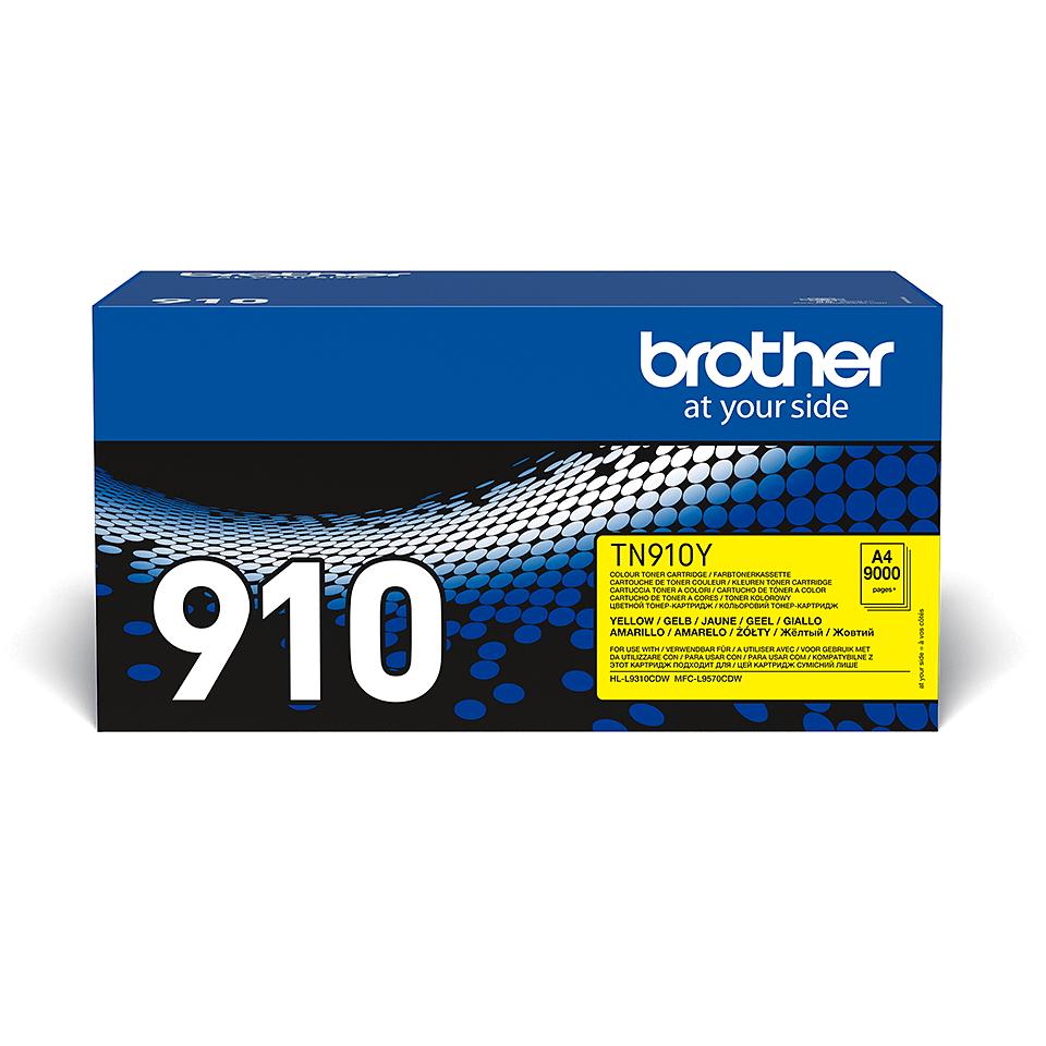 Оригинална тонер касета Brother TN910Y – жълт цвят
