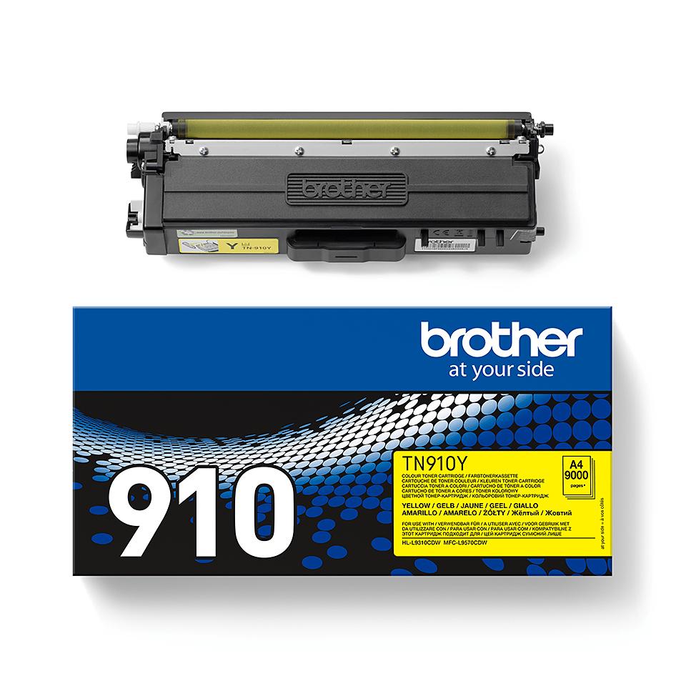 Оригинална тонер касета Brother TN910Y – жълт цвят 2