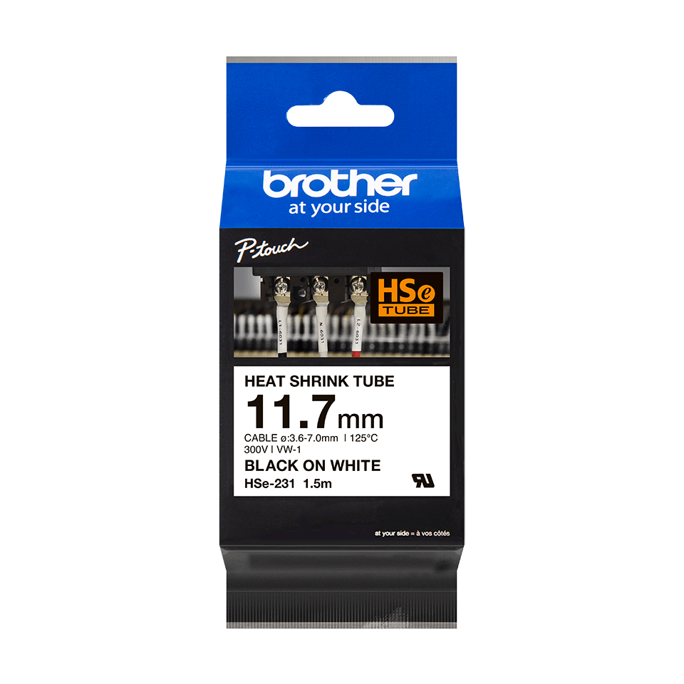Brother HSe-231 - Термо-шлаух лента, 11,7mm 2