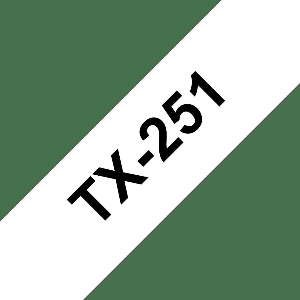 TX-251 Оригинална Brother етикетна лента – черно на бяло, ширина - 24 мм