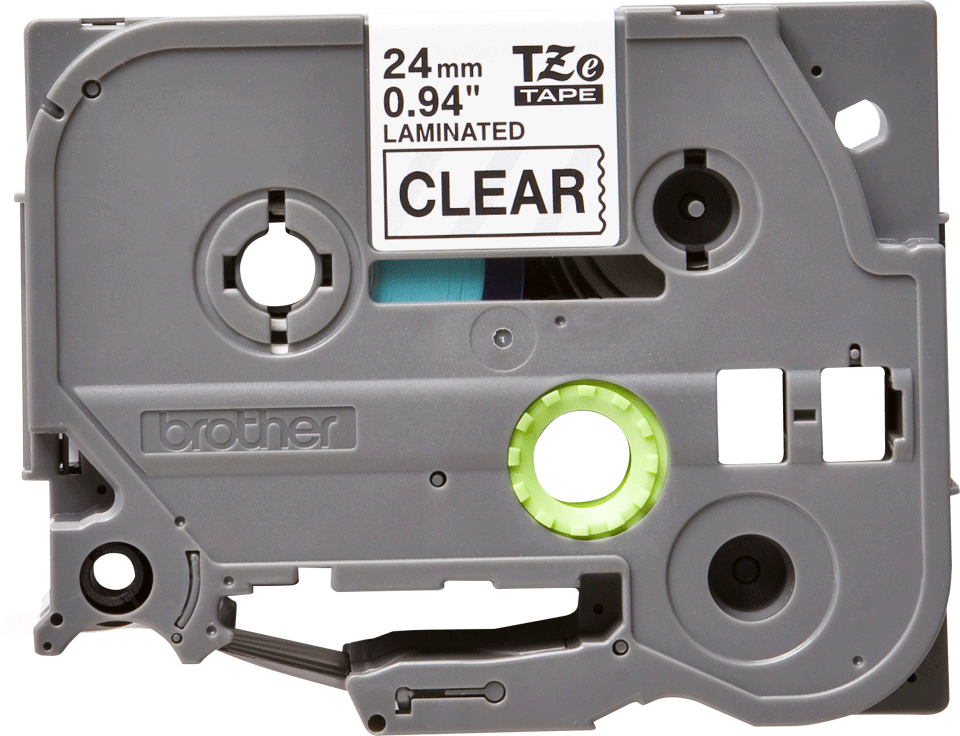 Brother TZe-151 Черен текст на прозрачна лента, ширина - 24mm