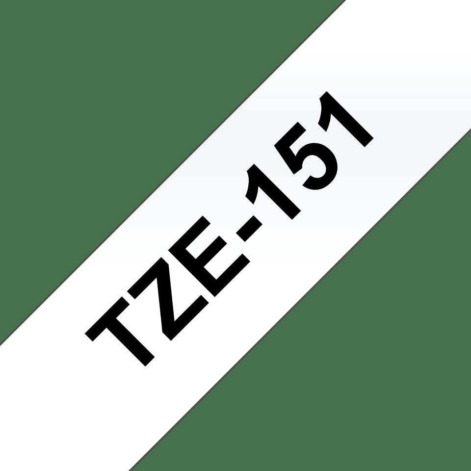 Brother TZe-151 Черен текст на прозрачна лента, ширина - 24mm 3