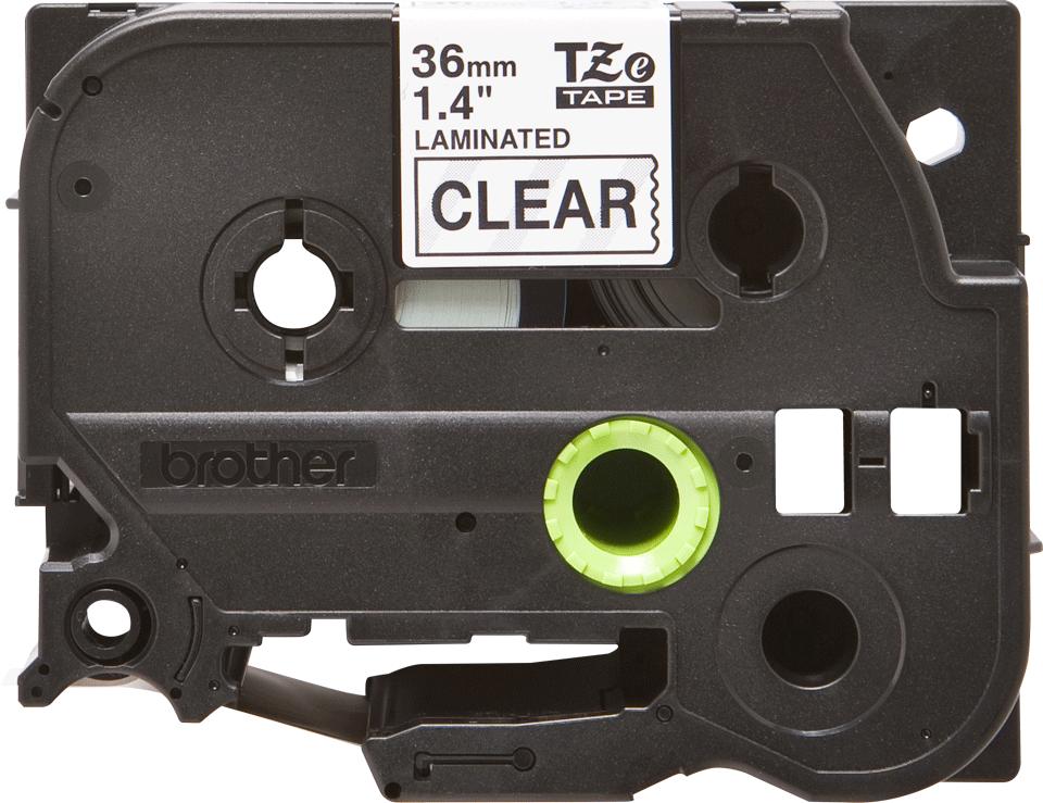 Brother TZe-161 - черен текст на бял фон, 36mm ширина