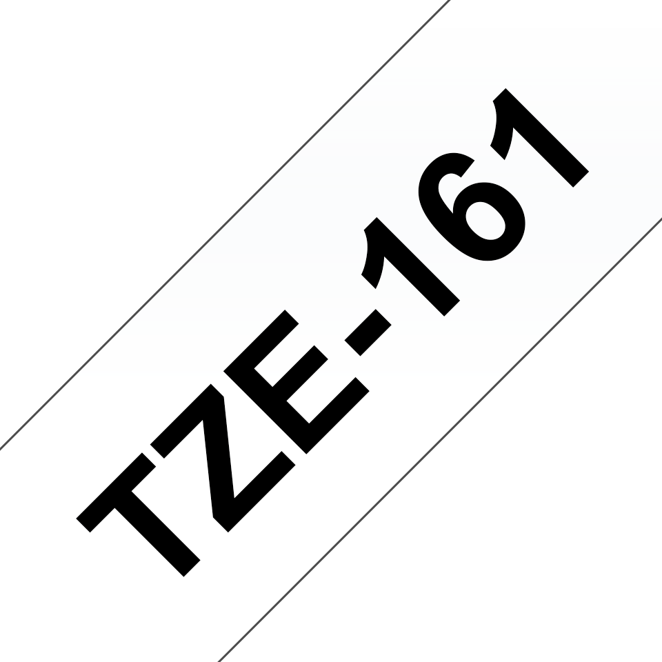 Brother TZe-161 - черен текст на бял фон, 36mm ширина 3