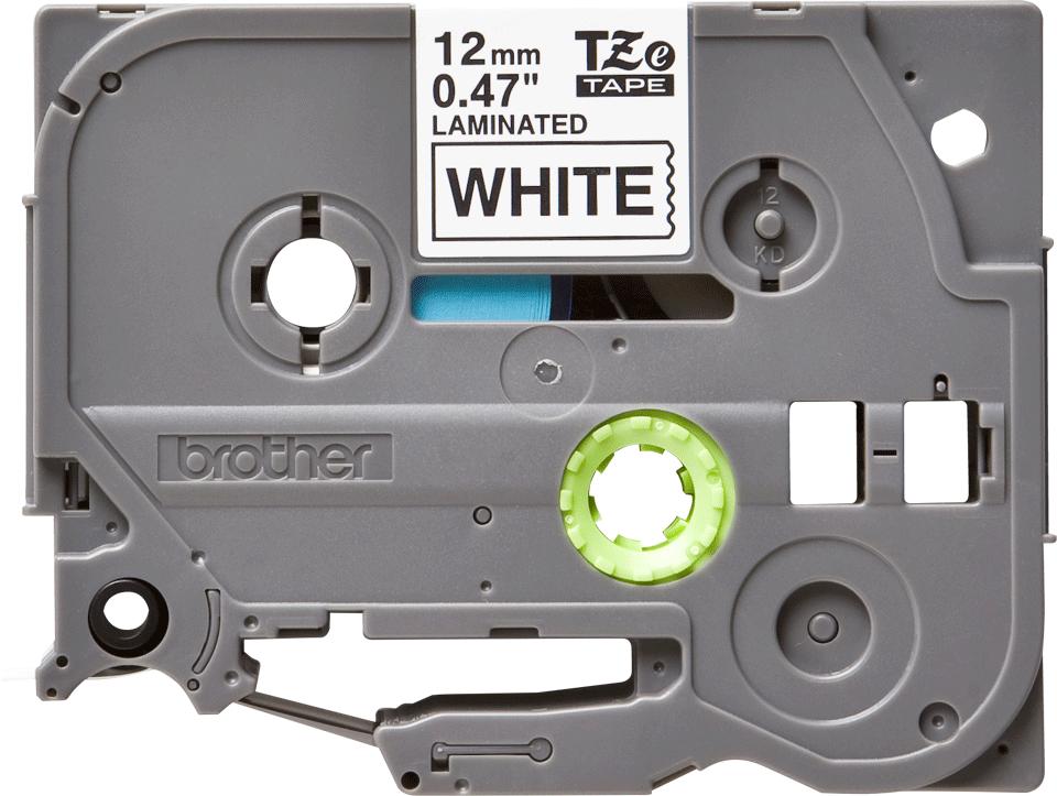 Brother TZe-231 -  черен текст на бяла ламинирана лента,  12mm ширина