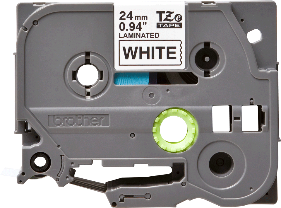 Brother TZe-251 - черен текст на бяла ламинирана лента, 24mm ширина