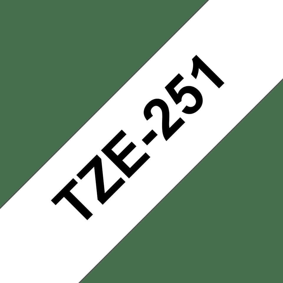 Brother TZe-251 - черен текст на бяла ламинирана лента, 24mm ширина 3