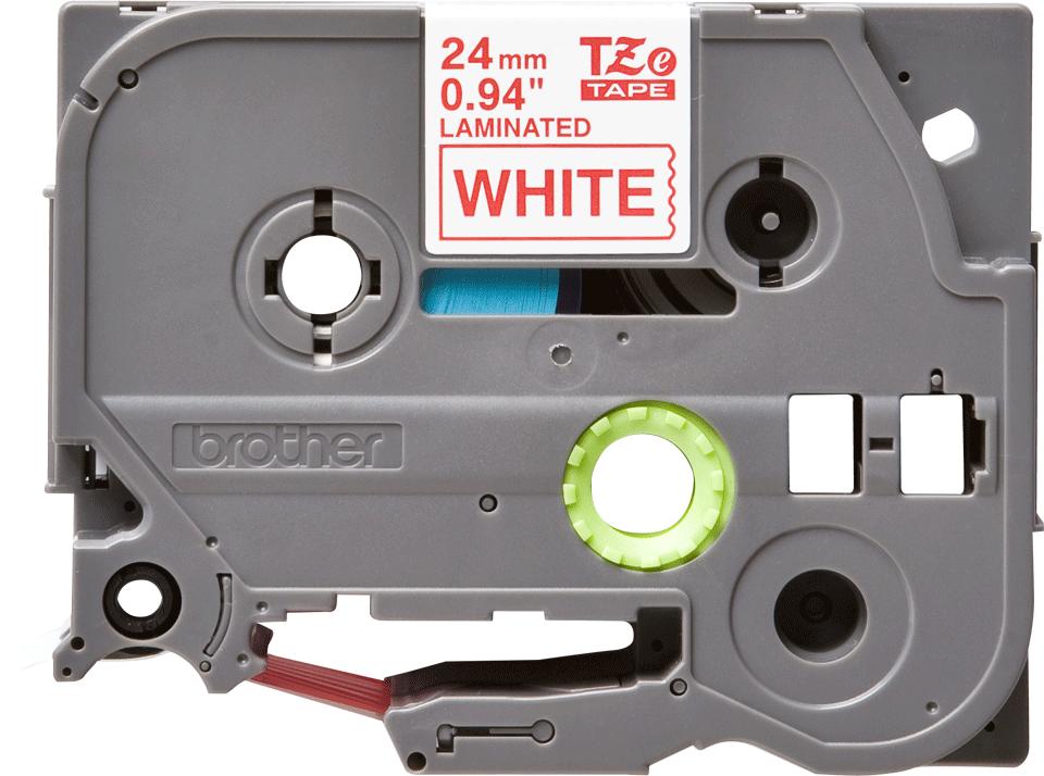 Brother - черен текст на бяла ламинирана лента,  24mm ширина