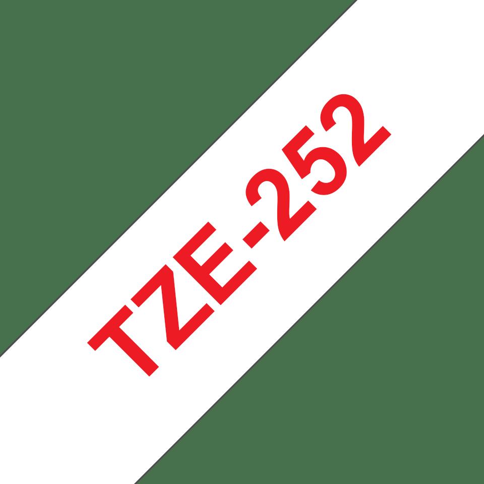 Brother - черен текст на бяла ламинирана лента,  24mm ширина 3