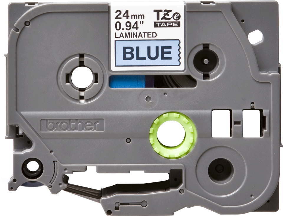 Brother TZe-551 - черен текст на синя ламинирана лента, ширина 24mm 2