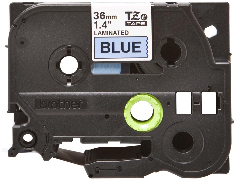 Brother TZe-561 - черен текст на синя ламинирана лента, ширина 36mm