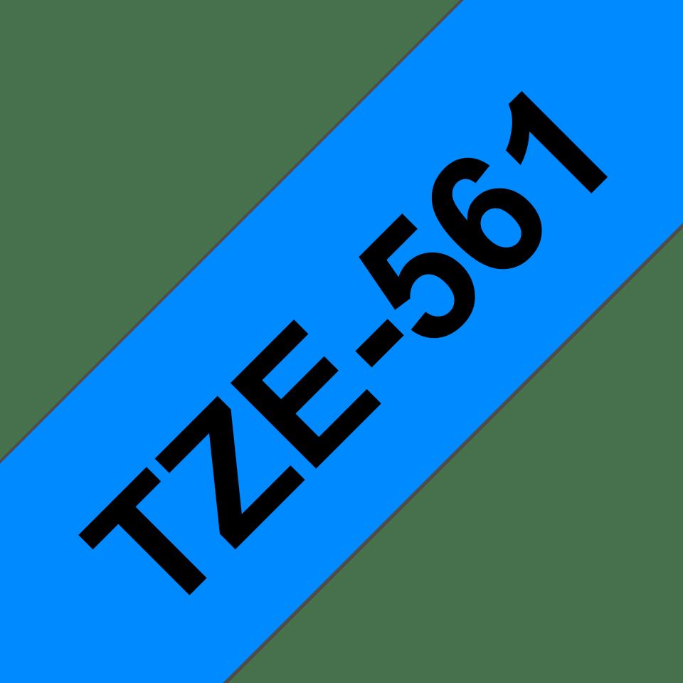 Brother TZe-561 - черен текст на синя ламинирана лента, ширина 36mm 3