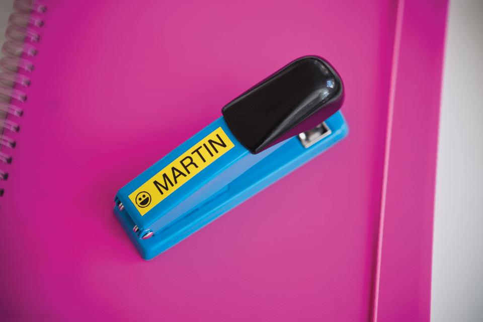 Brother TZe-641 - черен текст на жълта ламинирана лента, ширина 18mm 4