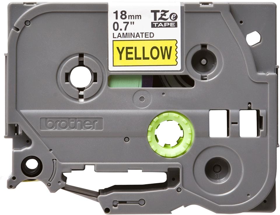Brother TZe-641 - черен текст на жълта ламинирана лента, ширина 18mm 2