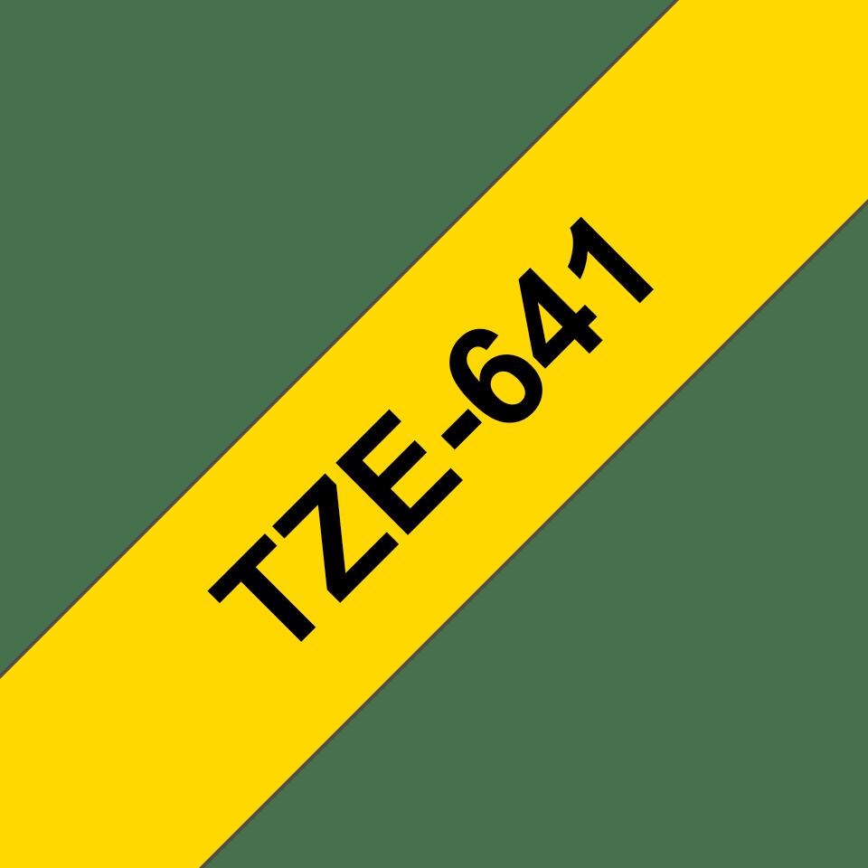 Brother TZe-641 - черен текст на жълта ламинирана лента, ширина 18mm