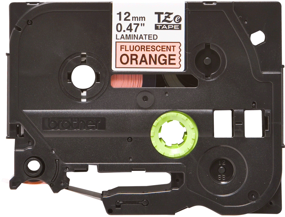 Brother TZe-B31 - черен текст на оранжева флуоресцентна лента, ширина 12mm