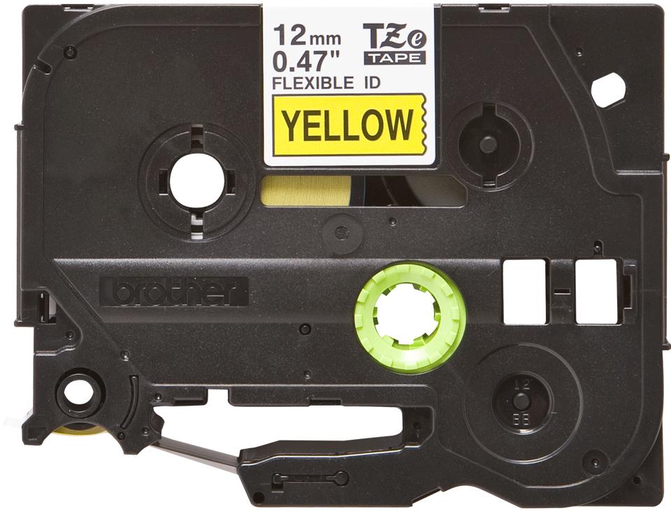 Brother TZe-FX631 - черен текст на жълта гъвгава лента, ширина 12mm 2