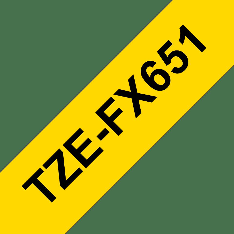 Brother - черен текст на жълта гъвгава лента, ширина 24mm 3