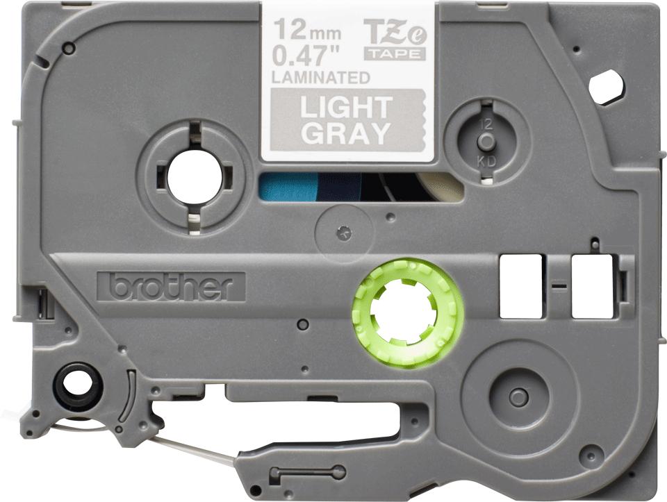 Brother TZe-MQL35 - бял текст на сива матирана лента, ширина 12mm